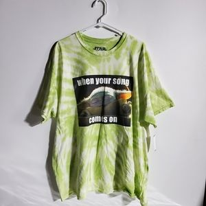 t shirt yoda star wars tie dye 2xl when your song